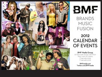 brands music fusion 2012 calendar of events - BMF Media
