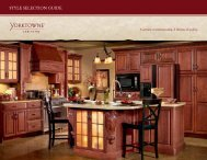 Style Selection Guide (PDF) - Yorktowne Cabinetry