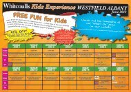 Kids Experience WESTFIELD ALBANY FREE FUN for ... - Whitcoulls