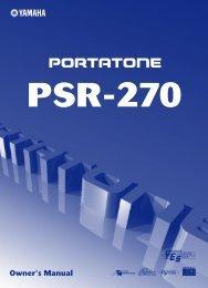 PSR-270 - Yamaha