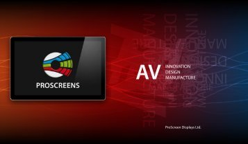 BROCHURE - PRO SCREENS - Projection Screens Ltd