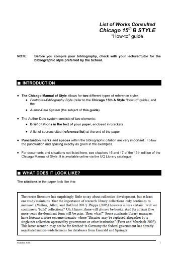 chicago style citation quick guide The following examples illustrate the notes and bibliography system sample notes show full citations followed by shortened citations for the same sources.