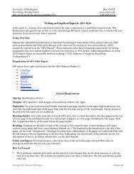 Writing an Empirical Paper in APA Style - University of Washington ...