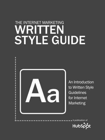 THe internet marketing Written Style Guide - HubSpot