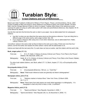 turabian style title page The turabian style originated with kate turabian, who compiled a research paper writing guide for the university of chicago you can use either.