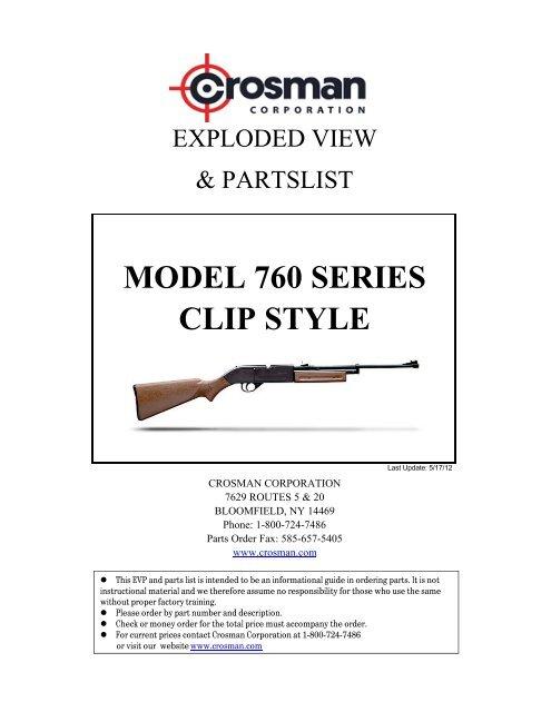 CLIP STYLE MODEL 760 SERIES - Crosman