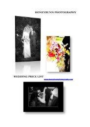 Wedding Package - Honeybunn Photography