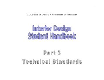 Basic Drafting Standards - Interior Design - University of Minnesota