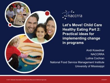 Let's Move! Child Care Healthy Eating Part 2: Practical ideas for ...