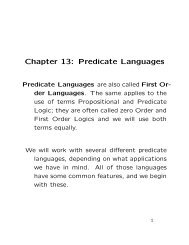 Chapter 13: Predicate Languages