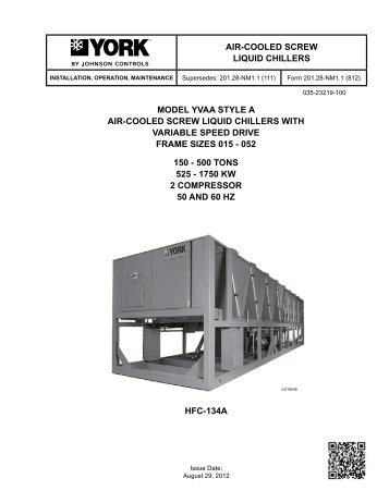 manual de instalação - chiller york® absorção ... york millennium schematics y14 york wiring schematics model e1rc036s06d