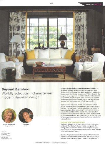 Beyond Bamboo - Fine Design Hawaii | Hawaii Interior Designer
