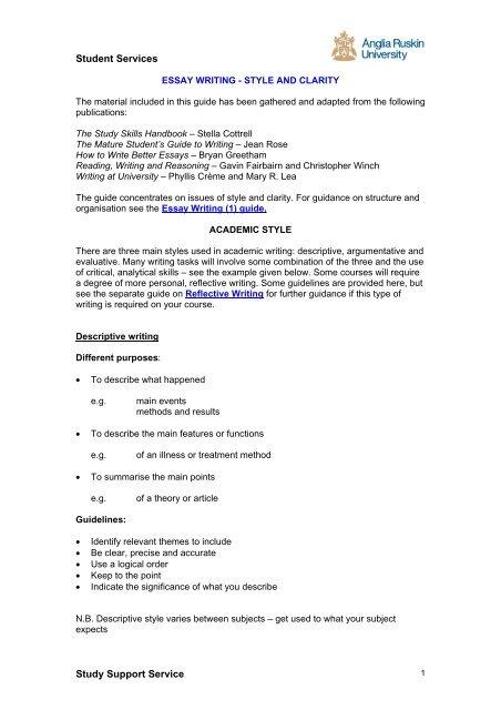 academic style essay