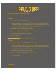 Term & Condition - Paul Ropp