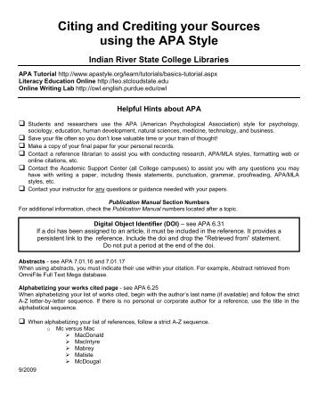 how to format and cite an appendix in apa style writing center