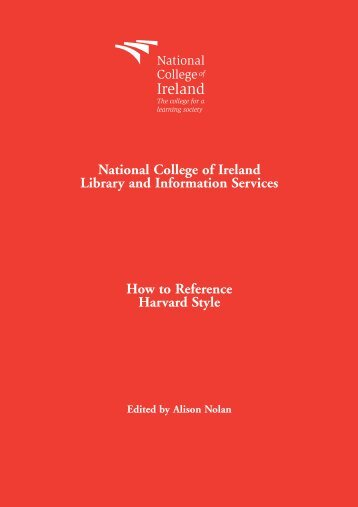 How to Reference Harvard Style - National College of Ireland