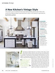 A New Kitchen's Vintage Style - Tracery Interiors