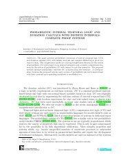 Probabilistic Interval Temporal Logic and Duration Calculus ... - arXiv