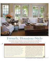 French, Houston-Style - House and Home Online
