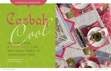 Jeannie Fraise styles a modern Moroccan BBQ with ... - Niche Interiors