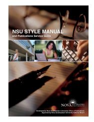 NSU Style Manual and Publications Service Guide - Nova ...
