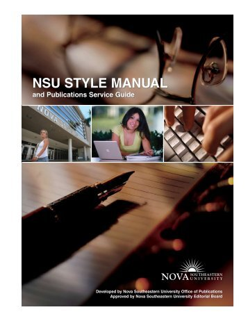 NSU Style Manual and Publications Service Guide - Nova ...
