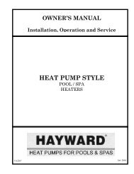 HEAT PUMP STYLE - Hayward Pools