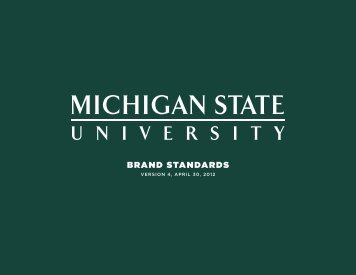 MSU Brand Standards - Communications and Brand Strategy at ...