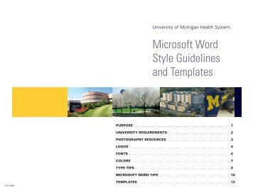 Microsoft Word Style Guidelines and Templates - University of ...