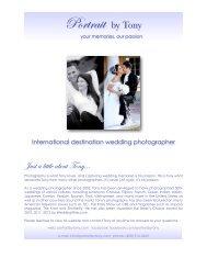 Wedding Photography - Portrait by Tony