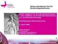 Neues Interaktives Tool Für Brustkrebspatientinnen Online-Tagebuch