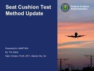 Seat Cushion Test Method Update