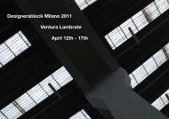 Designersblock Milano 2011 Ventura Lambrate April 12th - 17th