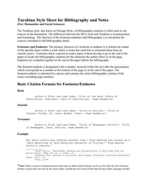 Turabian style essays
