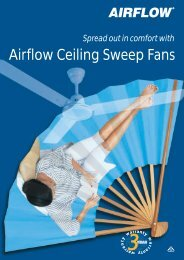 Airflow Ceiling Sweep Fans, 263-109 - Clipsal