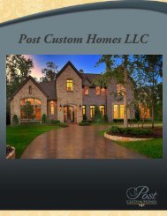 earned Post Custom Homes a reputation as one of the Oinest ...