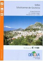 Flyer Sizilien - First Reisebüro