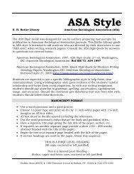 ASA Style - Buffalo State