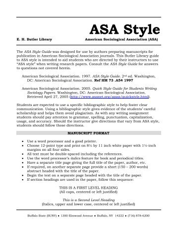 asa style format To create an essay that follows apa style, you need to focus on two things:  edit  to help you format your paper properly according to ashford's apa standards.