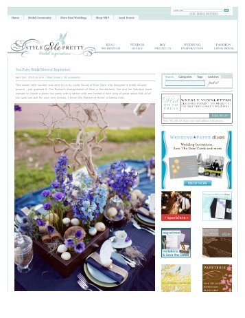 tea party bridal shower inspiration style me pretty _ lauryl lane