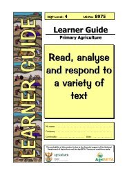 Read, analyse and respond to a variety of text - AgriSETA