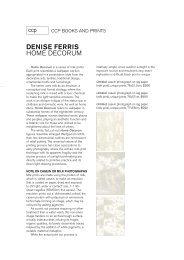 denise ferris home decorum - Centre for Contemporary Photography