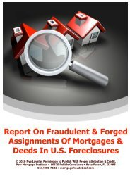 Report On Fraudulent & Forged Assignments Of ... - MSFraud.org