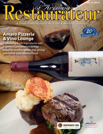 Amaro Pizzeria & vino lounge - Restaurateur of Arizona
