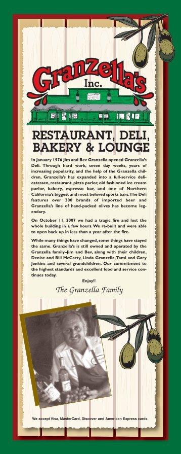 RESTAURANT, DELI, BAKERY & LOUNGE - Granzella's