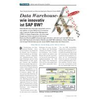 Data Warehouse- wie innovativ ist SAP BW?
