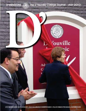D'MENSIONS The D'Youville College Journal JULY 2O1O