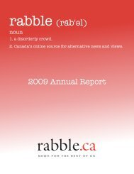 WHAT'S UP? rabble.ca's free Canada-wide community
