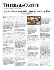 Worcester Telegram & Gazette News - The King of Steeltown
