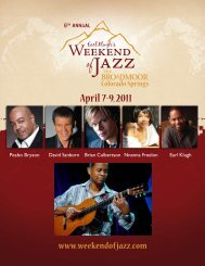 April 7-9, 2011 - Grammy-Winning Guitarist Earl Klugh's Weekend of ...